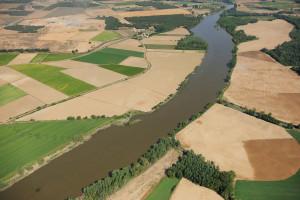 Aerial image farm land, Salamanca Region, Castilla y León, Spain