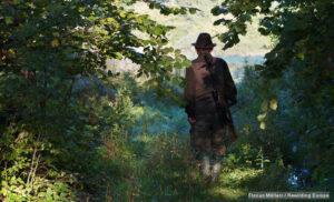 Forester Zdzislaw Strusiewicz of Leszczowate (close to Ustrzyki Dolne) on a morning excursion. Leszczowate, Ropienka, Poland.