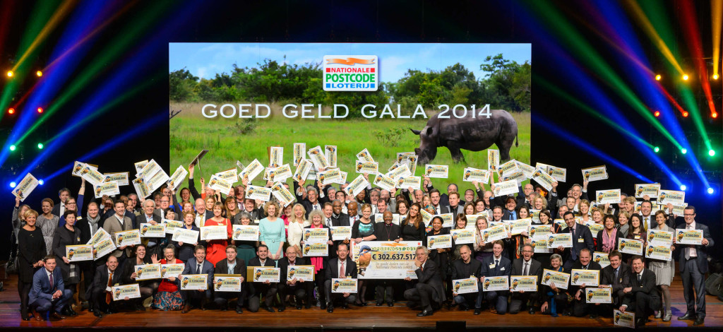 Dutch Postcode Lottery Gala 2014. Rewilding Europe is a proud beneficiary of the Dutch Postcode Lottery.