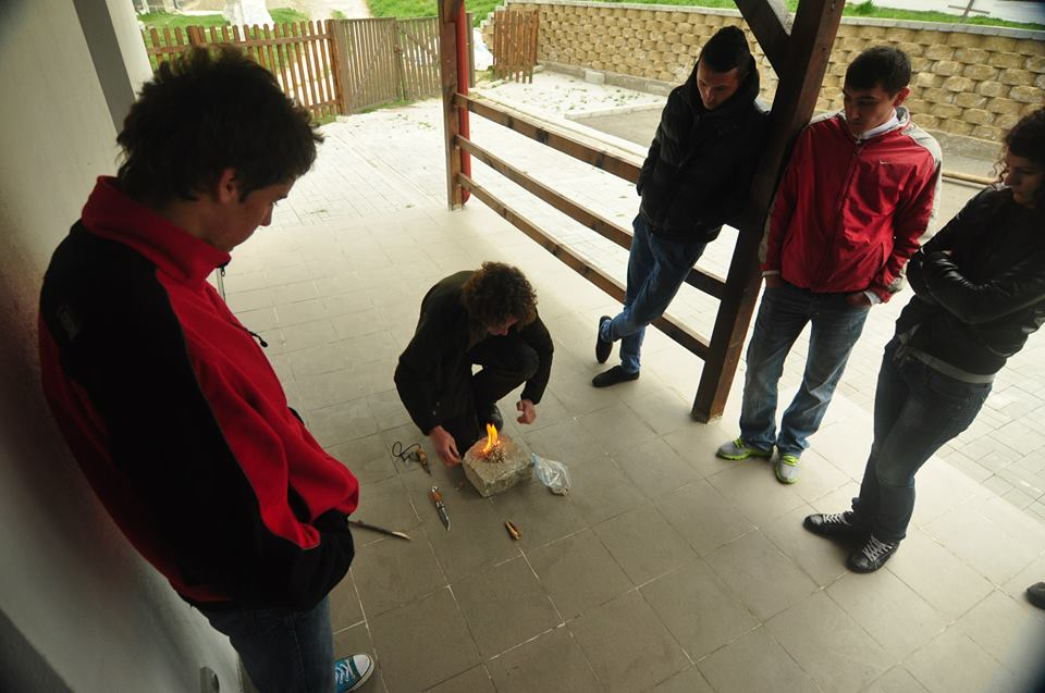 Training local guides in Armenis, Southern Carpathians rewilding area