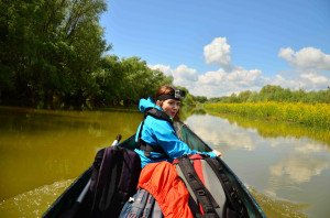 Alexandra Panait, Team Leader of Danube Delta rewilding area on a field mission.