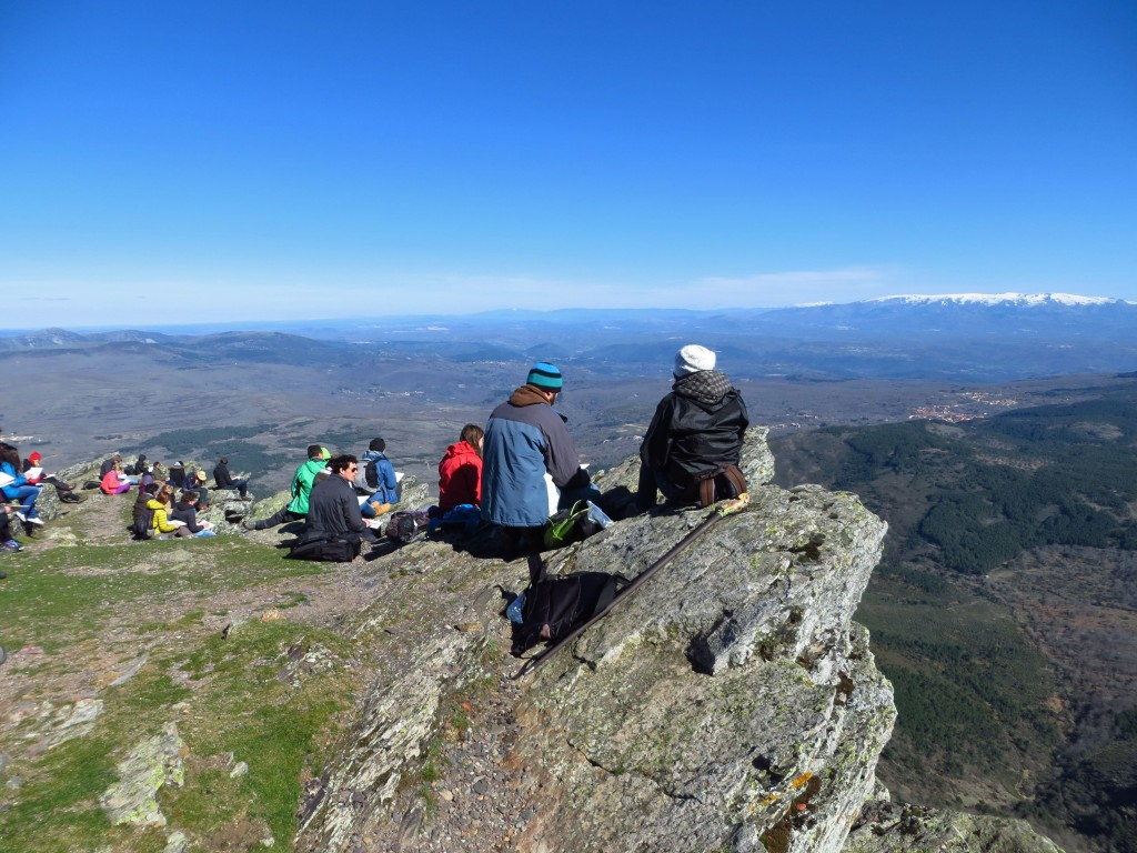 Students doing rewilding related field research in Western Iberia rewilding area, Portugal.