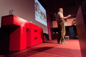 Joep van de Vlasakker at the TEDxEroilor event in Cluj-Napoca, Romania