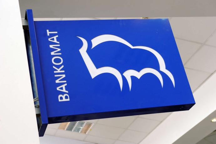 Bison image on ATM sign