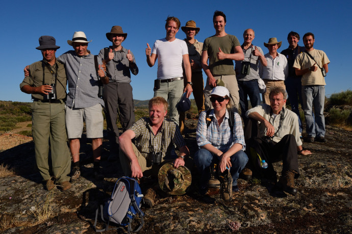 Group picture of the Rewilding Europe team, the ATN team and the Adessium team. Hiking in the Faia Brava reserve, Coa valley, Portugal Western Iberia rewilding area
