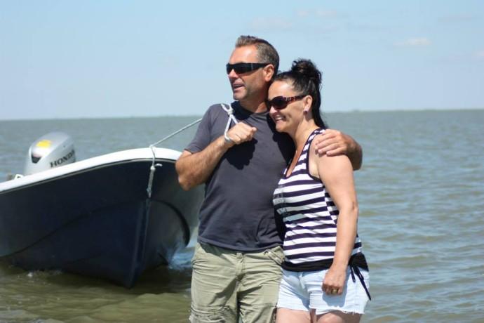Jeni and Dumitru Dimache, owners of a guesthouse in Sfantu Gheorghe, Danube Delta rewilding area, Romania