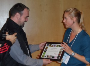 Xavier Escuté i Gasulla from FCLP receives the official Membership Certificate of the European Rewilding Network.