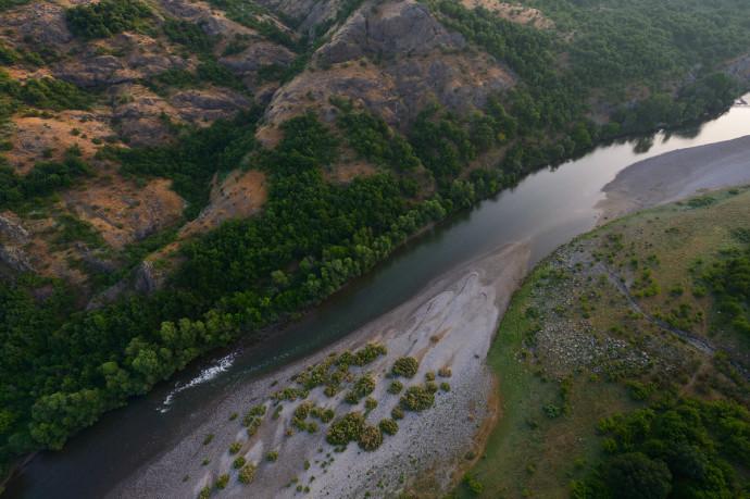 Over the Arda river canyon, Madzharovo, Eastern Rhodope mountains, Bulgaria.