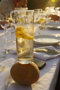 A fresh drink in the Côa valley.