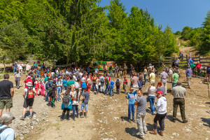 Gathering at the Second bison release event at Southern Carphatians rewilding area, Romania / Photo by Catalin Georgescu