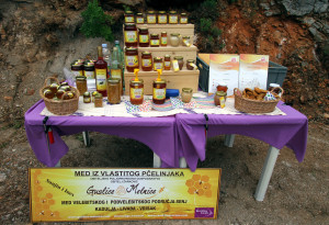 Guslice & Melnice honey products in Velebit Mountain rewilding area, Croatia.