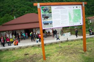 The Armeniş Bison Information Centre, close to the Tarçu Mountains Natura 2000 site, Southern Carpathians, Romania.