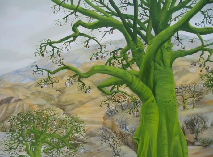 Ceiba landscape (Oil on Linnen)