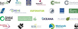 The 20 organisations that signed the position paper on the Habitat and Bird Directives, working together under the European Habitat Forum.