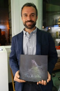 """Bruno D'Amicis presenting his book """"Time for Wolves""""."""