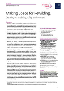 Policy Brief - Making space for rewilding