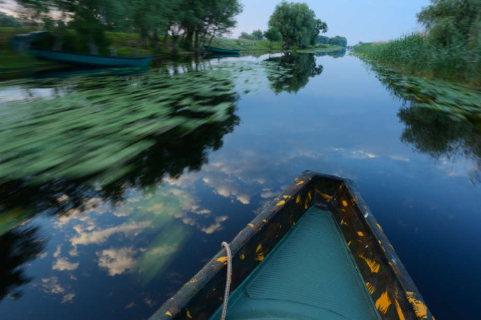 This is how a work day in Danube Delta rewilding area often looks like.