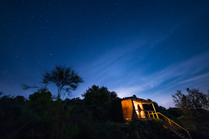 Faia Brava Star Camp, Europe's first real safari accommodation in Côa Valley, Western Iberia rewilding landscape, Portugal.