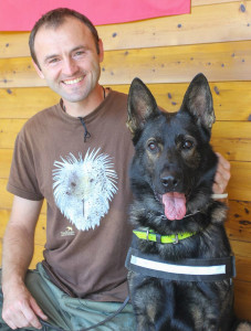Rhodope Mountains Anti-poison Dog Unit – Nikolay and his dog Bars.