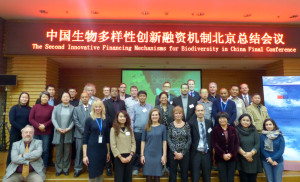Panelists at the 'Innovative Financing Mechanisms for Biodiversity' conference in Beijing, China.