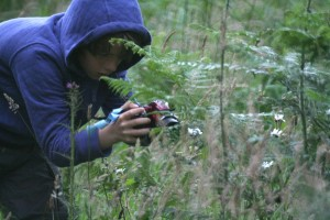 Zach, photographing plants and insects for his blog - Yearofnature, where he writes about his explorations and discoveries.
