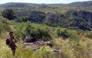 One of Tom's fellow students, Maxime Parmentier, carries out fieldwork in the Faia Brava nature reserve in Portugal.