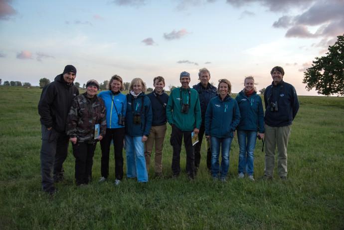 Rewilding Europe supervisory board, central team and Oder Delta team during field visit to the Oder Delta rewilding area.