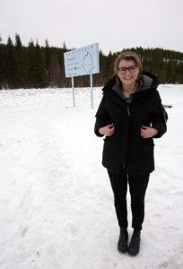 Julia Rouet-Leduc in the Lapland rewilding area in Sweden.