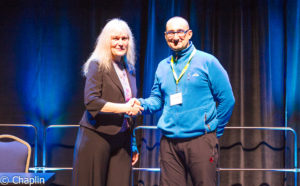 "The US-based Society for Marine Mammalogy presents the ""Conservation Merit"" award to Karamanlidis."