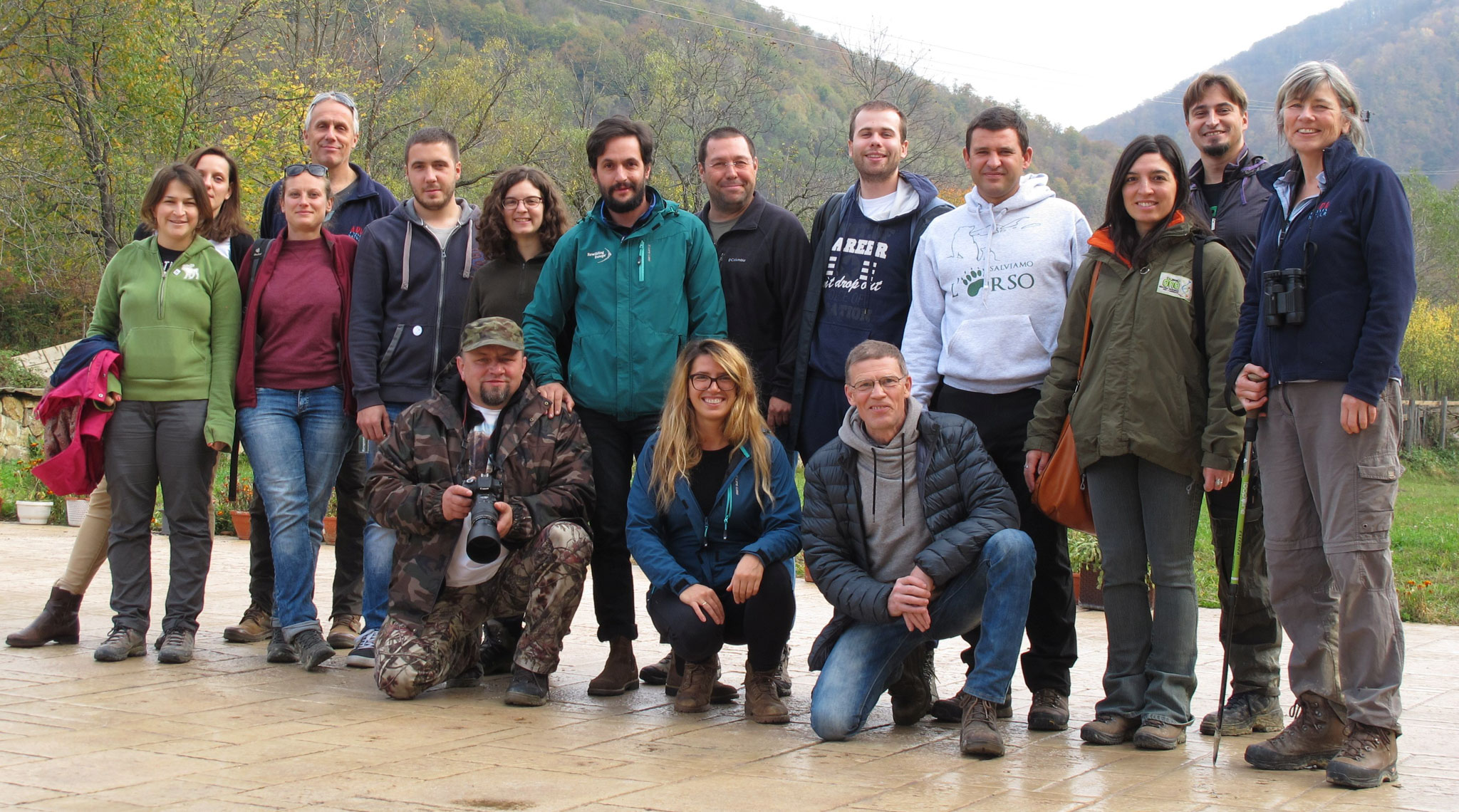 Participants of the four-day international course on nature education organised by Rewilding Europe and ARK Nature.