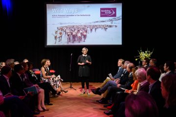 Princess Laurentien of the Netherlands presided the Wild Ways event, held in Amsterdam on 19 April 2017.