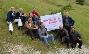 The Rewilding Europe supervisory board visited the Central Apennines to mark and celebrate the relaunch with the new local partners.