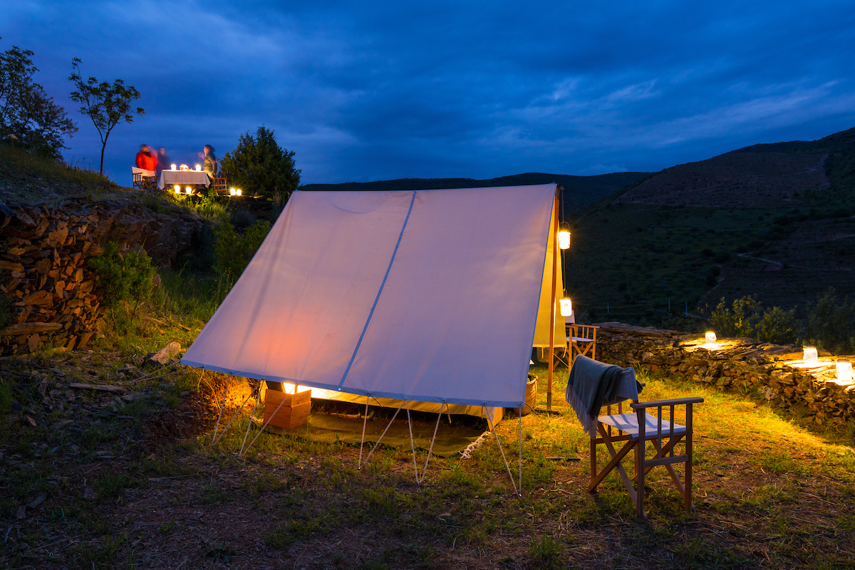 Pictured here in the Western Iberia rewilding area, the Fly Camp by Miles Away is a rewilding-related business set up with support from Rewilding Europe Capital.