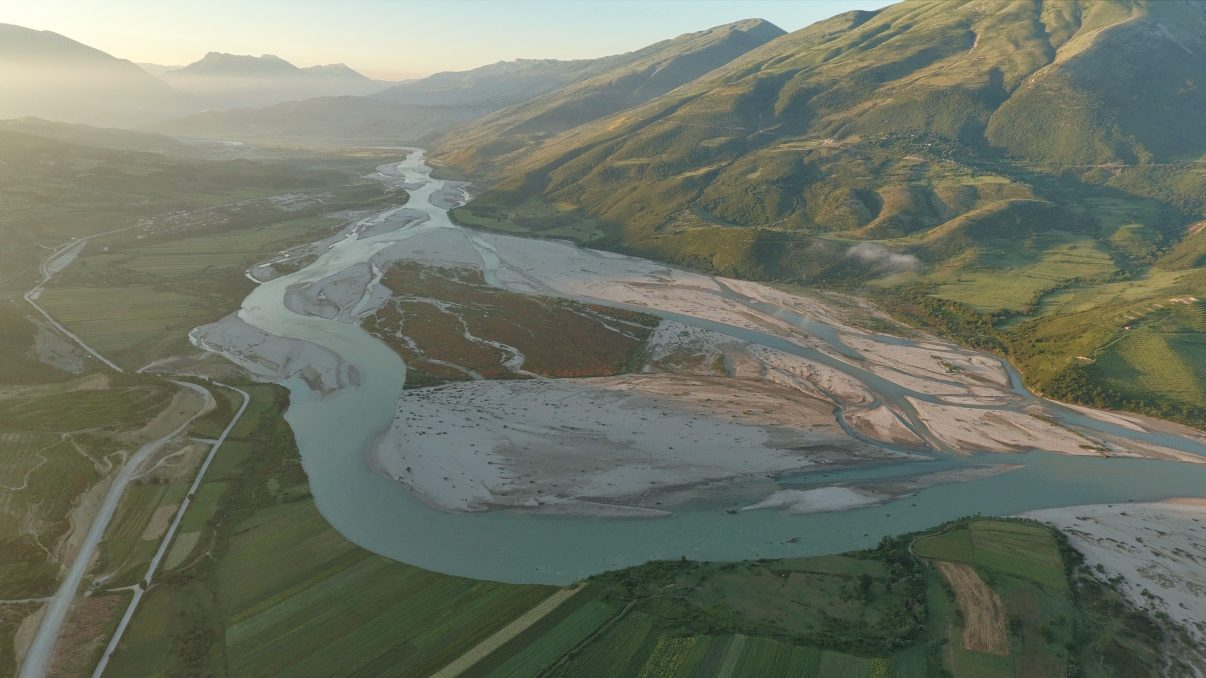 Untamed and free-flowing, the Vjosa river represents one of the last wild river ecosystems in Europe. It rises in Greece, where it is called the Aoos, and runs for 80 kilometers before it reaches Albania.
