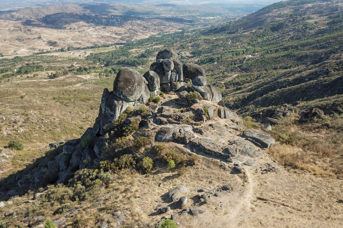 Fraga da Pena Tor geosite is one of many geosites that are part of Geopark Estrela in Western Iberia, Portugal.