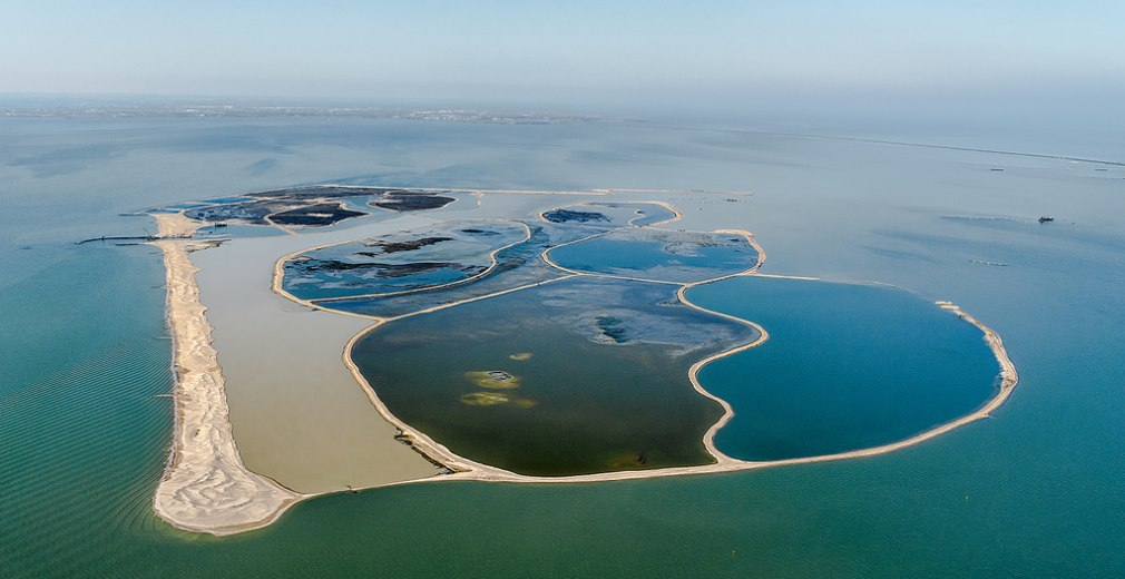 The recently opened island is one of five created with sediment from the Markermeer. The other four, which are now undergoing a process of vegetation, are inacessible and solely for the benefit of wildlife.