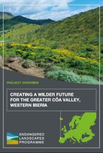 """""""Creating a wilder future for the Greater Côa Valley"""" - project description."""
