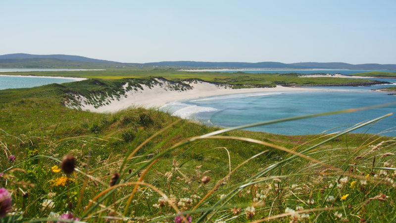 The breathtaking view of the Traigh Udal beach in North Uist.