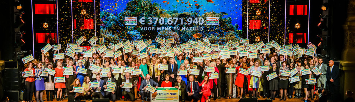 This year saw the Dutch Postcode Lottery gave away 370 million euros to 117 non-governmental organisations.