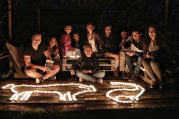 To celebrate Earth Hour, TANZ club students in Hațeg created a bison shape with candles.
