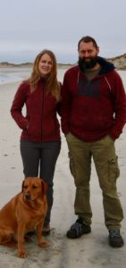 Kathryn and Angus Johnson, the owners of the Uist Forest Retreat