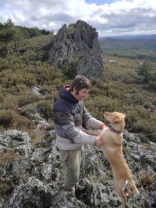 Duarte Cadete and dog Alice