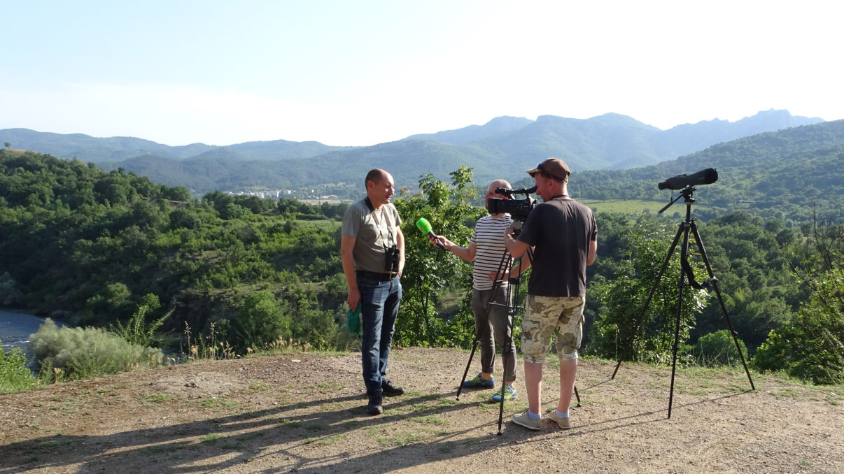 Bulgarian journalists visited the Rhodope Mountains to cover rewilding efforts.