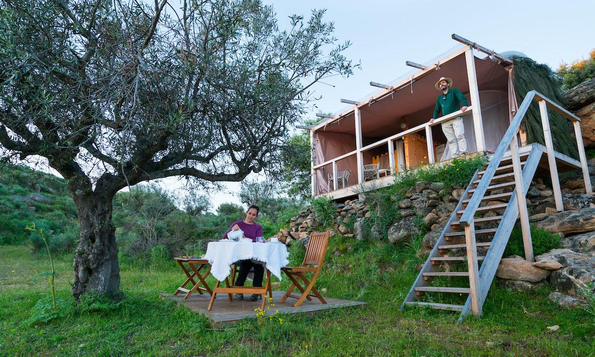Star Camp, Faia Brava, Côa Valley, Western Iberia, Portugal, Europe, Rewilding Europe