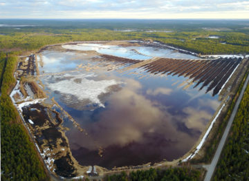 ...however at least 50% of the world's peatlands are damaged – which can be rewetted and become a sink again, in a relative cheap way (photo: damaged peatland in Finland).