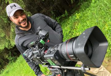 Wildlife cameraman Louis Labrom