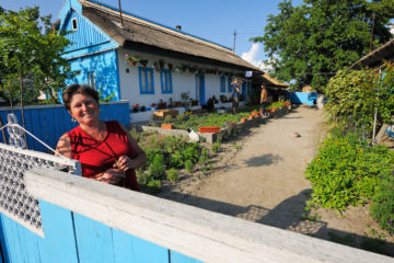 Tourism in the delta, guesthouse owner, Danube delta rewilding area, Romania
