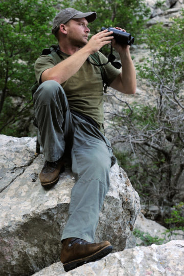Wildlife guide and hunting guide Hrvoje Bezjak, Velebit Nature Park, Rewilding Europe rewilding area, Velebit mountains, Croatia