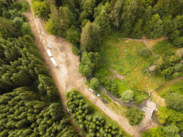 Aerial view of the area where the bison are released.
