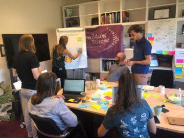 Young Rewilders brainstorming in Nijmegen office